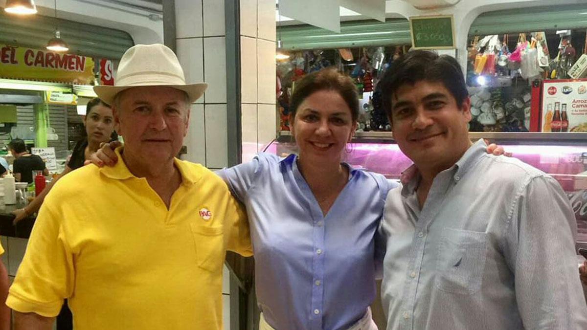 Otton Solis, Marcia Gonzalez, Carlos Alvarado