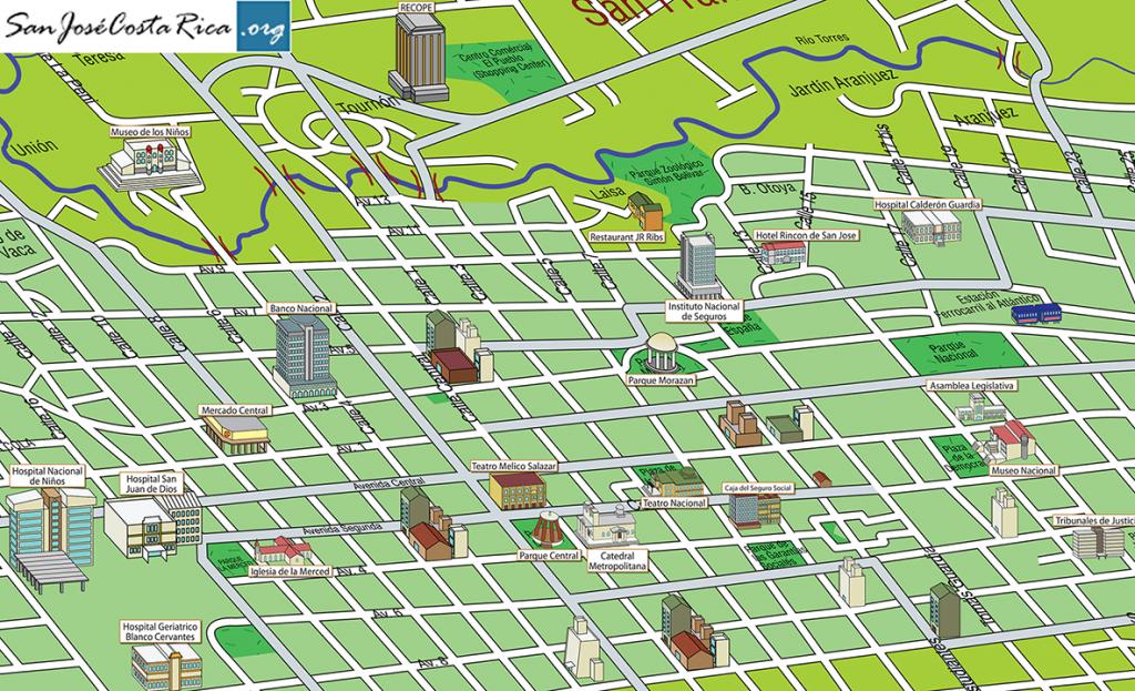 Mapa San Jose Centro