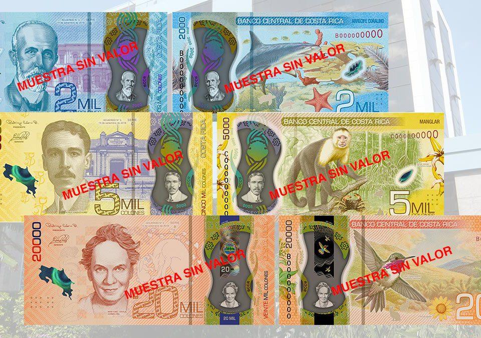 Nuevos Billetes Costa Rica