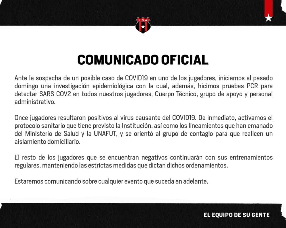 Comunicado LDA COVID