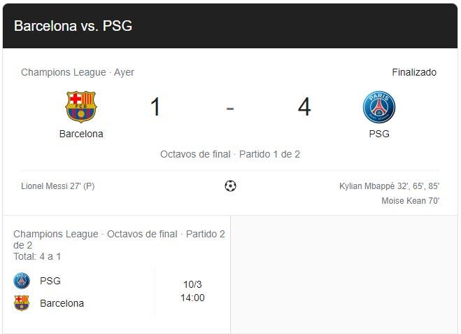 Barcelona-PSG